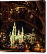 Christmas Market At The Vienna City Hall Canvas Print