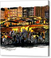 Christmas Market Recklinghausen Canvas Print