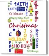 Christmas Message  -  Typography Canvas Print