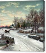 Christmas Morn, C1885 Canvas Print