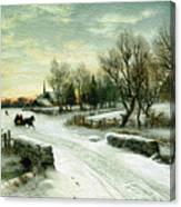Christmas Morn Textured Canvas Print