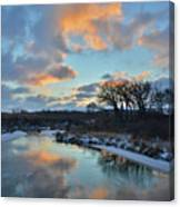 Christmas Morning 2017 In Glacial Park 2 Canvas Print