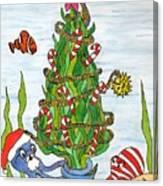 Christmas Of The Sea Tree Canvas Print