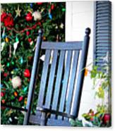 Christmas On The Porch Canvas Print