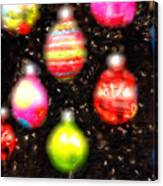 Christmas Ornaments Abstract One Canvas Print