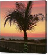 Christmas Palm Canvas Print