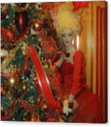 Christmas Parlor Fashions For Evergreens Event Hotel Roanoke 2009 Canvas Print