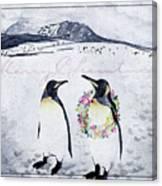 Christmas Penguins Canvas Print