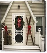 Christmas Porch Canvas Print