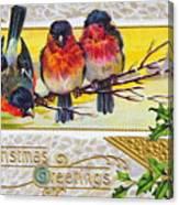 Christmas Postcard Canvas Print