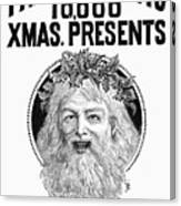 Christmas Present Ad, 1890 Canvas Print