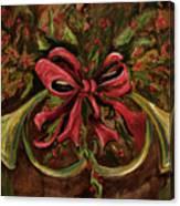 Christmas Red Ribbon Canvas Print