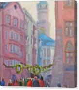 Christmas Shopping - Innsbruck Canvas Print
