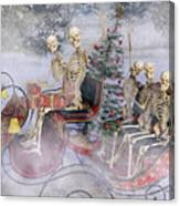 Christmas Spirits Heading To Topsail Island Nc Canvas Print