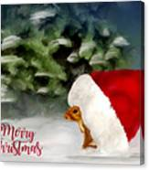 Christmas Squirrel  Greeting Card Canvas Print