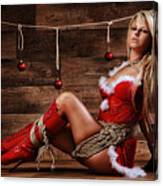 Christmas Babe - Fine Art Of Bondage Canvas Print