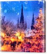 Christmas Town Canvas Print