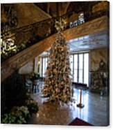 Christmas Tree And Staircase Marble House Newport Rhode Island Canvas Print