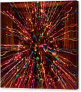 Christmas Tree Colorful Abstract Canvas Print