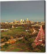 Christmas Tree In Austin Canvas Print