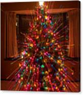 Christmas Tree Light Spikes Colorful Abstract Canvas Print