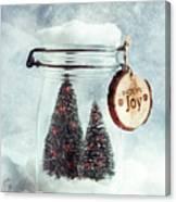 Christmas Tree Snowglobe Canvas Print