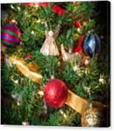 Christmas Tree With Angel 4 Canvas Print