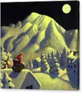 Christmas Under Olympus Canvas Print