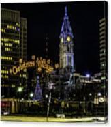Christmas Village - Philadelphia Canvas Print