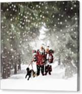 Christmas Walking Canvas Print