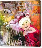Christmas With My Sheep Canvas Print