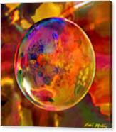 Chromatic Floral Sphere Canvas Print