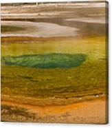 Chromatic Pool At Yellowstone Canvas Print