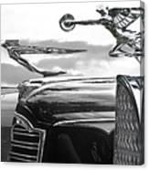 Chrome Hood Ornaments Vintage Cars Canvas Print