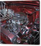 Chrome Red and Powerful Canvas Print