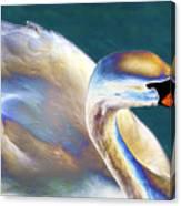 Chrome Swan Canvas Print