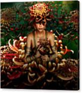 Chrysanthemum Bouquet 004 Canvas Print