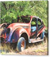 Chrysler Airflow Painterly Expression Canvas Print