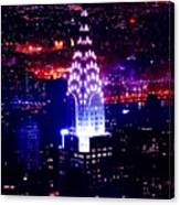 Chrysler Building At Night Canvas Print