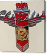Chrysler Hood Logo Canvas Print