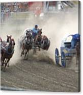 Chuckwagon Racers Canvas Print