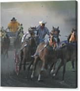 Chuckwagon Racing Canvas Print