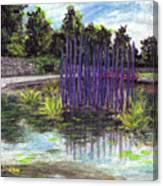 Chuhuly Installation At Biltmore Water Gardens Canvas Print