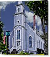 Church And Flag Canvas Print