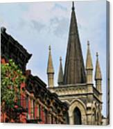 Church Architecture Older Nyc  Canvas Print