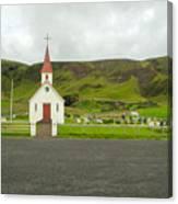 Church At Vik I Myrdal Iceland Canvas Print