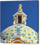 Church Dome And Blue Sky Canvas Print