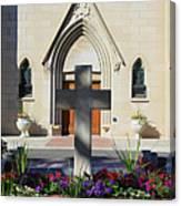 Church Entrance Cross Canvas Print