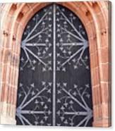Church Door In Eltville Canvas Print