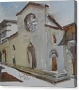 Church Facade Canvas Print